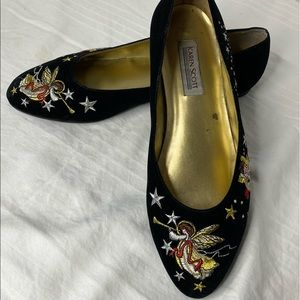Karen Scott Holiday Angel Shoes Sz 10M